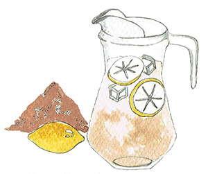 Chaga mushroom lemon water