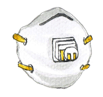 Drawn N95 Mask